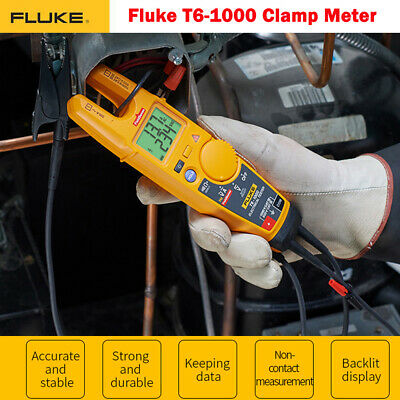 Fluke T6-1000 Electrical Non-contact Continuity Current Clamp Tester Field Sense