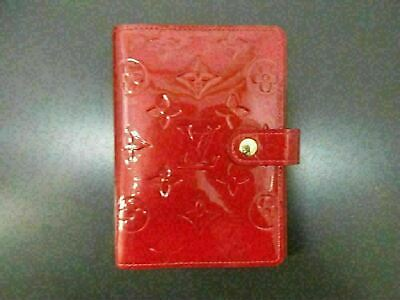 Authentic Louis Vuitton Vernis Agenda PM R21016 Day Planner Cover Great 80282