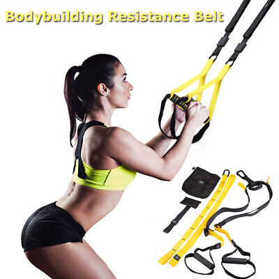 Bodyweight Fitness And Yoga Resistance Trainer Kit Full Body Suspension Workout