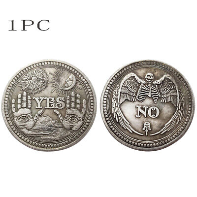 Yes / No Ouija Coin Gothic Prediction All Seeing Eye Occult Death Angel UK Gift