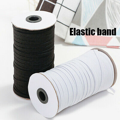 Flat Elastic Cord Sewing White Black 3mm