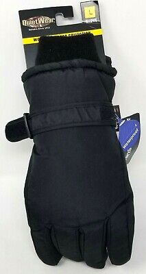 Quiet Wear insulated gloves size L black waterproof work outdoor cold weather