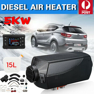 AU All IN One 5KW 12V Diesel Air Heater Thermostat For Caravan Motorhome Trailer