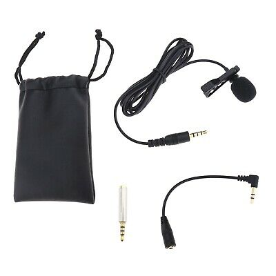 Lapel Microphone Kit Smartphones Clip On Interview Video Voice Podcast Mini