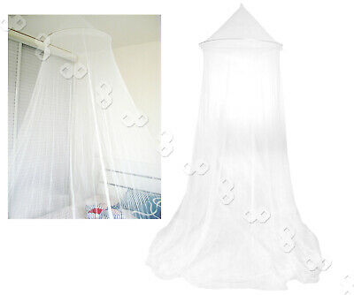 Bed Canopy Mosquito Bed Single King Midge Insect Net White - One size fits most