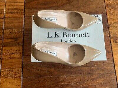 LK Bennett leather nude taupe UK 5 38 boxed