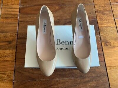 LK Bennett leather taupe nude UK 3 36 Boxed