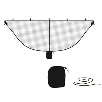 Portable Outdoor Camping Mosquito Net for Double Hammock Hanging Bed(Black) #Cu3