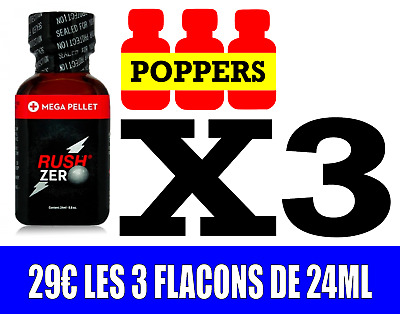 Poppers Rush zero 24 ml [Lot de 3]