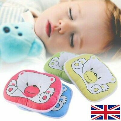 Newborn Infant Baby Support Cushion Pad Bear Pattern Pillow Prevent Flat Head UK