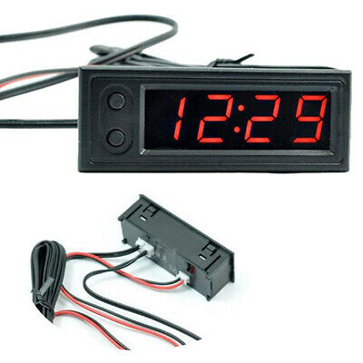 Car Clock Accessories Accurate Led 3 In 1 Luminous Voltmeter Digital Display
