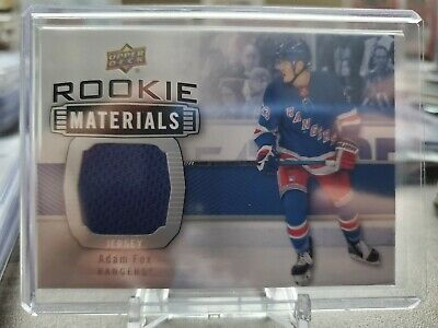 Adam Fox 2019-20 Upper Deck Series 2 ROOKIE MATERIALS JERSEY GROUP B 1:131