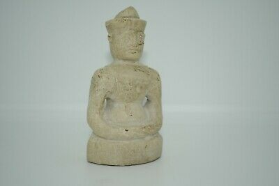Ancient White Stone Bactrian Emperor Idol statue/Sculpture