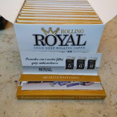 Cartine Royal  Extra Light Paper Corte  - Scatola Da 13 Libretti 50 Cartine