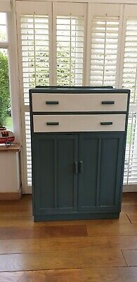 Tallboy, Linen,Pantry,Cupboard With Drawers Farrow And Ball Painted & Waxed