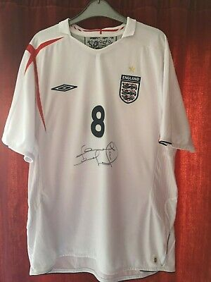Frank Lampard Hand signed England shirt XL