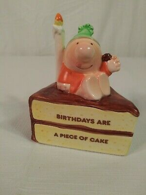 Vintage Rare 1989 Ziggy Birthdays Are A Piece Of Cake Figurine  Candle Hat Party