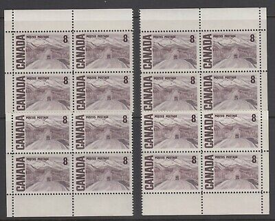CANADA SET OF 4 PB (BLANK) OF #461MNH 8c ALASKA HIGHWAY BY A. Y. JACKSON #1