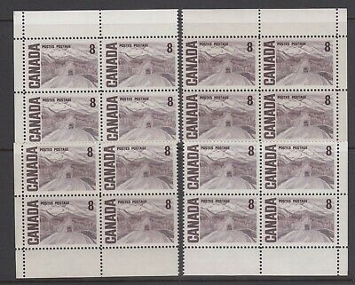 CANADA SET OF 4 PB (BLANK) OF #461MNH 8c ALASKA HIGHWAY BY A. Y. JACKSON #3