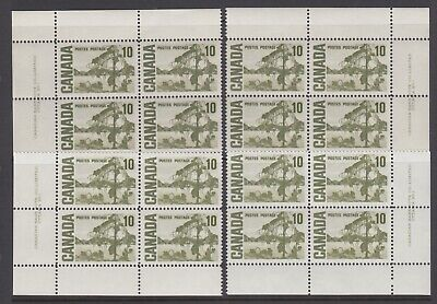 CANADA SET OF 4 PLATE BLOCKS 1 OF #462MNH 10c JACK PINE BY TOM THOMSON #1