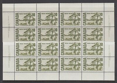CANADA SET OF 4 PLATE BLOCKS 1 OF #462MNH 10c JACK PINE BY TOM THOMSON #3