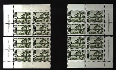 CANADA SET OF 4 PLATE BLOCKS 2 OF #462MNH 10c JACK PINE BY TOM THOMSON #2