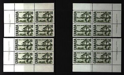 CANADA SET OF 4 PLATE BLOCKS 2 OF #462MNH 10c JACK PINE BY TOM THOMSON #3
