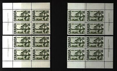 CANADA SET OF 4 PLATE BLOCKS 2 OF #462MNH 10c JACK PINE BY TOM THOMSON #4