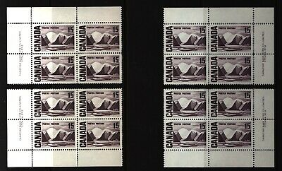 CANADA SET OF 4 PLATE BLOCKS 2 OF #463MNH 15c GREENLAND MOUNTAINS BY HARRIS #2
