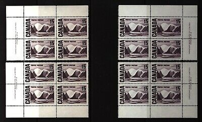CANADA SET OF 4 PLATE BLOCKS 2 OF #463MNH 15c GREENLAND MOUNTAINS BY HARRIS #5