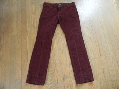 D&G Dolce&Gabbana maroon corduroy low rise straight leg pants S-M made in Italy