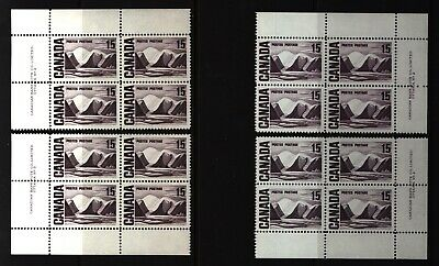 CANADA SET OF 4 PLATE BLOCKS 2 OF #463MNH 15c GREENLAND MOUNTAINS BY HARRIS #6