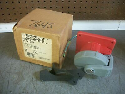 Hubbell Watertight Pin & Sleeve Receptacle 420R7W 20Amp 480Volt 3Ph 3Pole 4W Nib