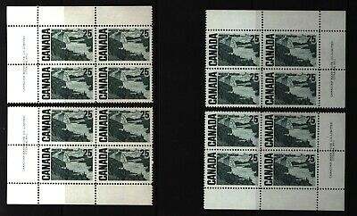 CANADA SET OF 4 PLATE BLOCKS 1 OF #465MNH 25c SOLEMN LAND / J.E.H. MacDONALD #1