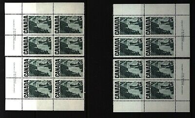 CANADA SET OF 4 PLATE BLOCKS 2 OF #465MNH 25c SOLEMN LAND / J.E.H. MacDONALD #2