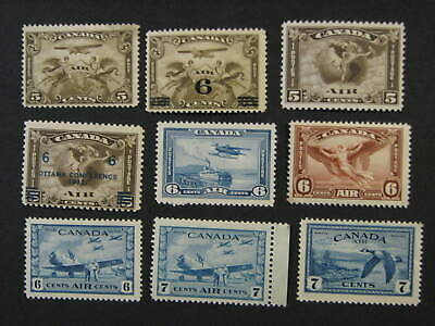 Canada C1-C9 Air Mail Stamps - MNH