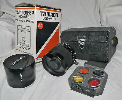 Tamron SP 500mm f/8 Telephoto Mirror Lens With Case & Filters
