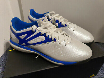 ADIDAS MESSI 15.1 Boost B24587 Mens White Blue Indoor Soccer