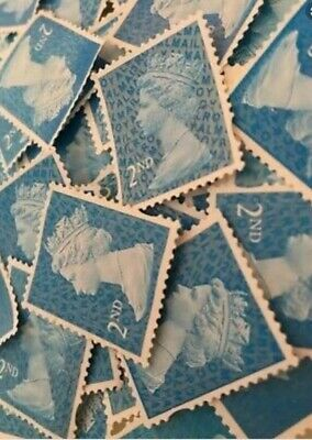 5000 2nd class unfranked stamps. Blue excellent condition off paper no glue