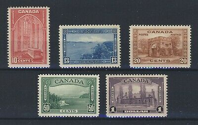 5x Mint VF Canada Stamps George V Pict. Issue #241-#245 2xMNH 3x MH GV=$227.50