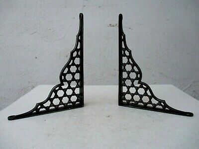 Architectural Salvage True Vintage Pair in Cast Iron Strong Shelf Wall Bracket
