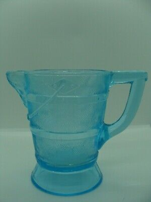 EAPG   Bryce Brothers Glass Co's Blue Wooden Pail Creamer