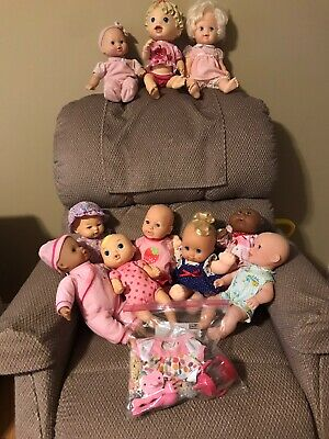 Lot Of 11 Baby Dolls--Baby Alive, Cabbage Patch, Little Mommy, Magic Nursery +