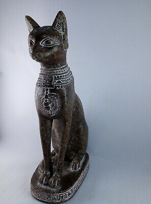 RARE ANTIQUE ANCIENT EGYPTIAN Statue of Cat Bast-Bastet 1245–1054 BC