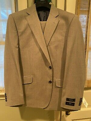 AUSTIN REED Men's Heathered Grey Suit. Size:44R(38W). Colors:Gray Retail:$400