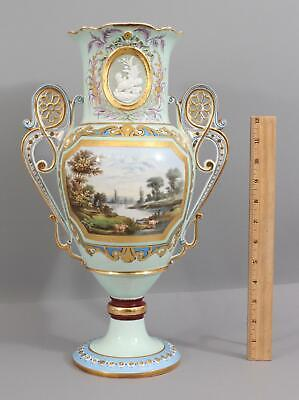 Antique HA & Co Henri Ardant Paintings Limoges Pate-sur-Pate Porcelain Urn