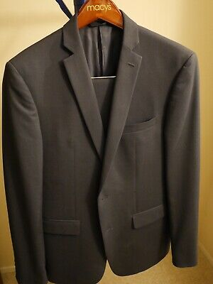 Bar III Macy's Suit Mens 40R 32X32 Navy Extra Slim