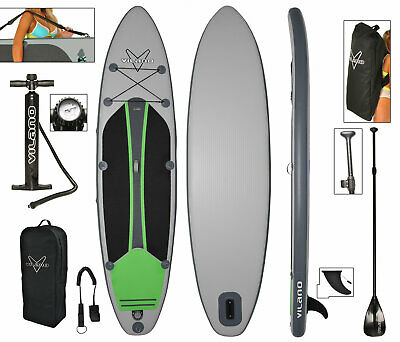 Voyager Inflatable SUP Stand Up Paddle Board, includes Pump, Paddle, Bag & Leash