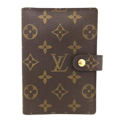 100% Authentic Louis Vuitton Monogram Agenda PM Notebook Cover /ee37