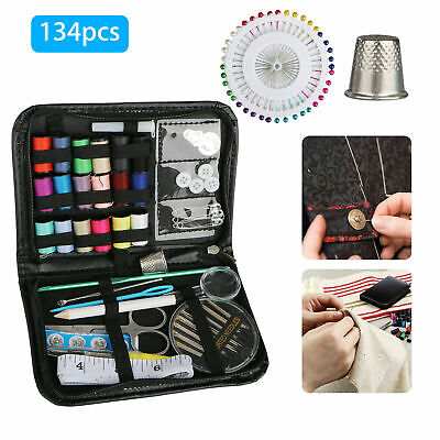 134pcs Portable Needle Tape Sewing Kit Home Travel Emergency Pro Sewing Tool Set